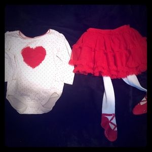 Children's place Valentine's 2 piece outfit